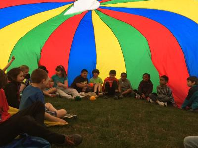 Circus Tent with the parachute