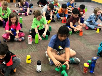 Brain Gym with Cup Stacking !